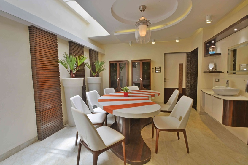 A house in the sky by deepak mukati interior designer in for Interior design for hall and dining room