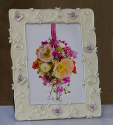 Photo Frame with Big Butterfly Border