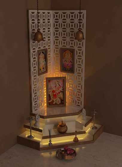 Small pooja cabinet designs small house pooja room design for Home mandir designs marble