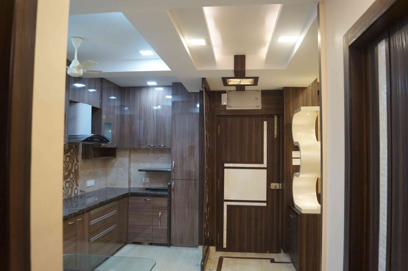 Indian kitchen interior designs kitchen design ideas for Entrance door design for flats