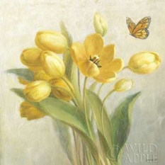 Yellow French Tulips Poster