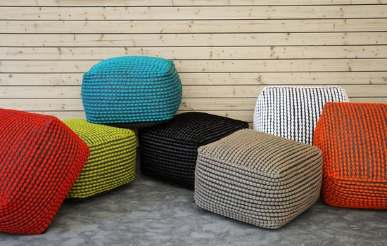 Roccoco Durable Polyster Poufs
