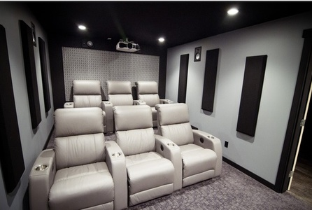 Home Theatre Designs For Inspiration Horizon Fabric Acoustic Panels