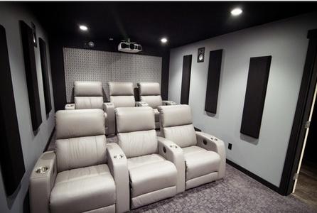 Wonderful ... Home Theatre Designs. Horizon Fabric Acoustic Panels