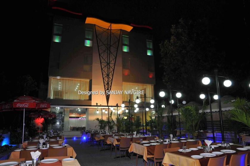 Hotel restaurant interior design work by sanjay navgire