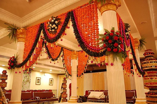 Home Decoration In Punjabi Wedding : Indian wedding house decoration home decor ideas for