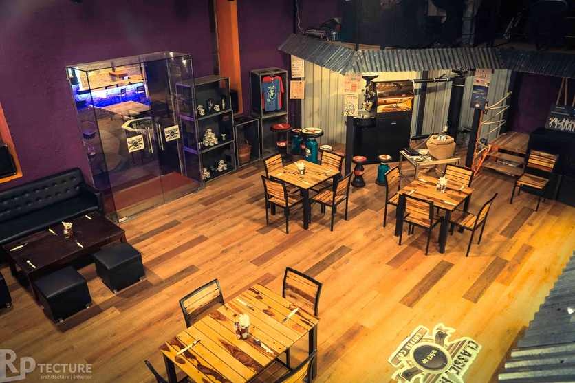 Restaurant Design with Wooden Flooring