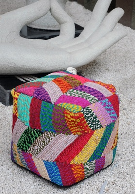 Jodhpuri Handcrafted Cotton Poufs