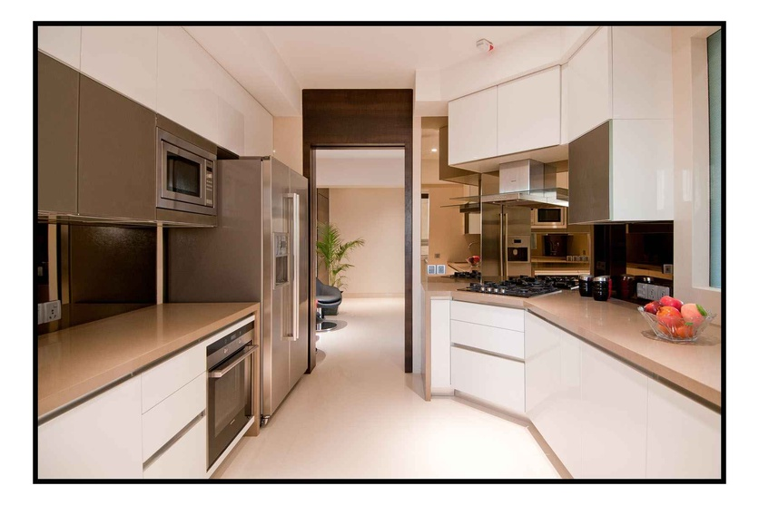 Sample flat for a private developer by sameer panchal for Sample modular kitchen designs