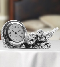 Table Clock with Sparrows