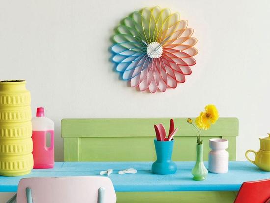 Karlsson Wall Clock Spirograph Plastic Multi Colour
