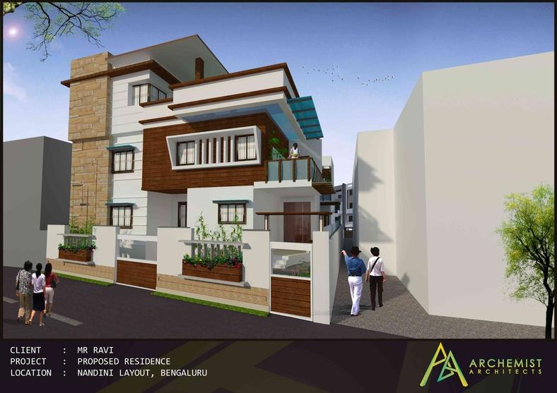 Twin house by archemist architects architect in bangalore for Architects in bangalore
