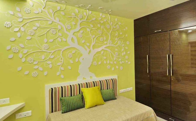 Ethnic indian wall d cor art d cor ideas tips wall art for Wallpaper designs for bedroom indian