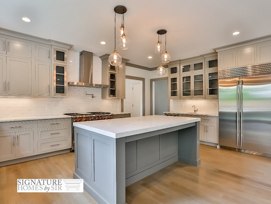 how to choose hang pendant lights over kitchen island number size