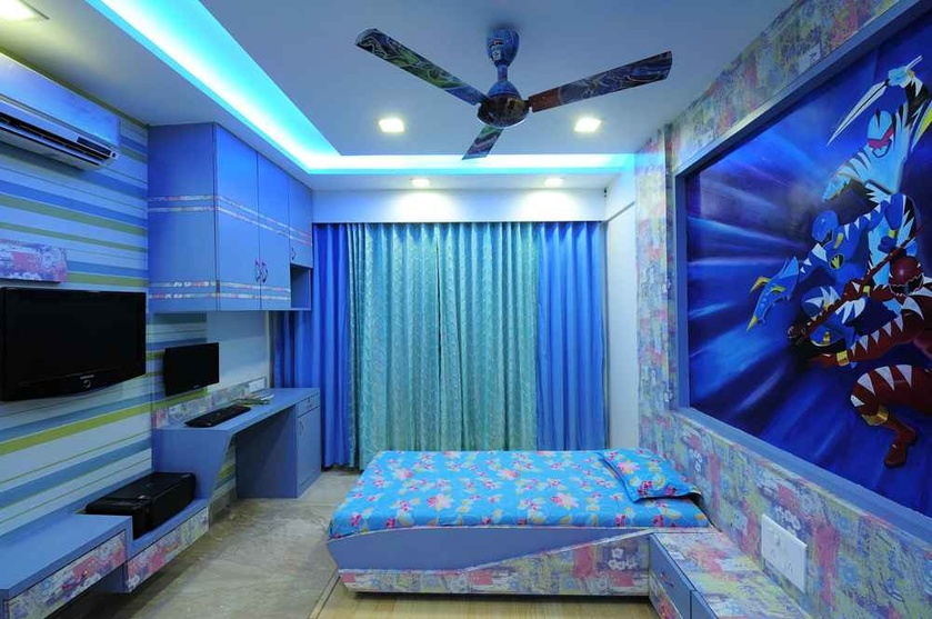 Hiresh paramar 39 s residence by ambati chandra shekhar for Interior wallpaper designs india
