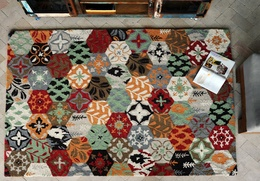 Arish Hand-tufted Multi-color Wool Rugs
