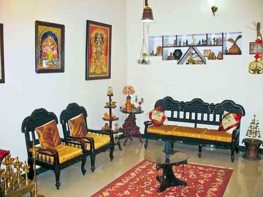 South indian house designs south indian home interior for Indian traditional interior design ideas