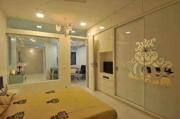 Yellow and White Modern Bedroom Design
