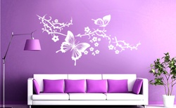 Butterflies and Blossoms Wall Decal ( KC018 )