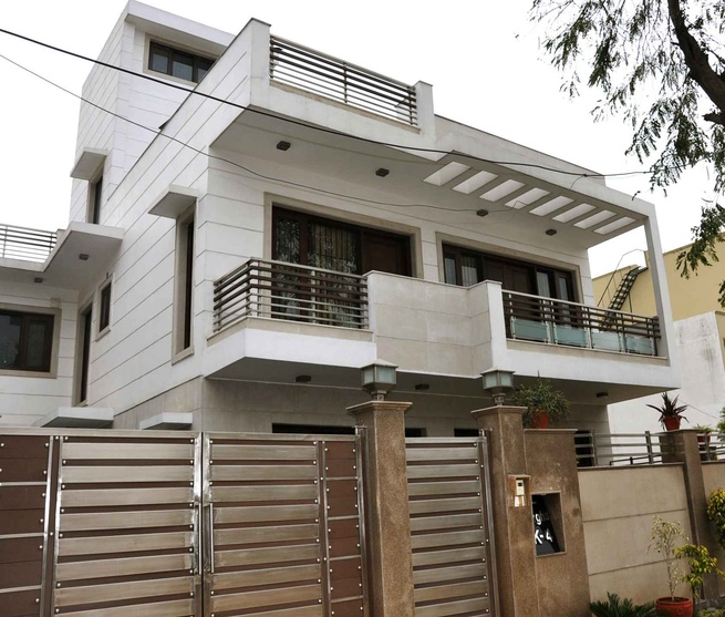 k 4 south city gurgaon by horizon design studio pvt ltd on home exterior design in