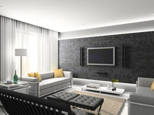 Living Room Wallpaper Designs India, Living Room Wallpaper Design ...