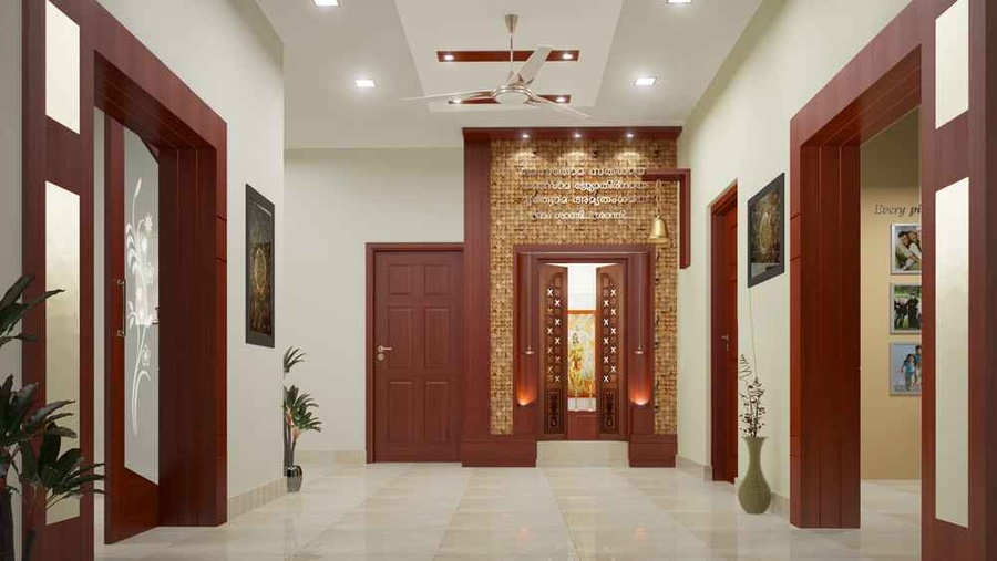 Residentail project of mr gopikrishnan by m s monnaie for Foyer designs india