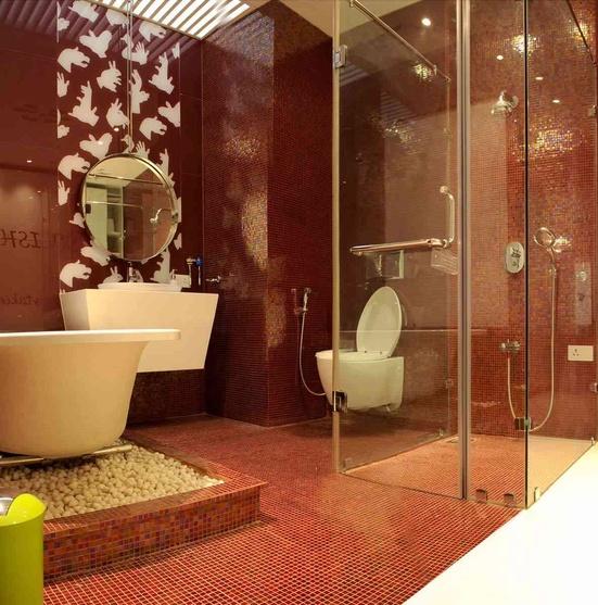Pradeep jain house by rajesh sheth interior designer in for Bathroom accessories in ahmedabad