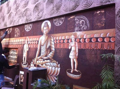 The Vibrant Buddha Wall Artwork