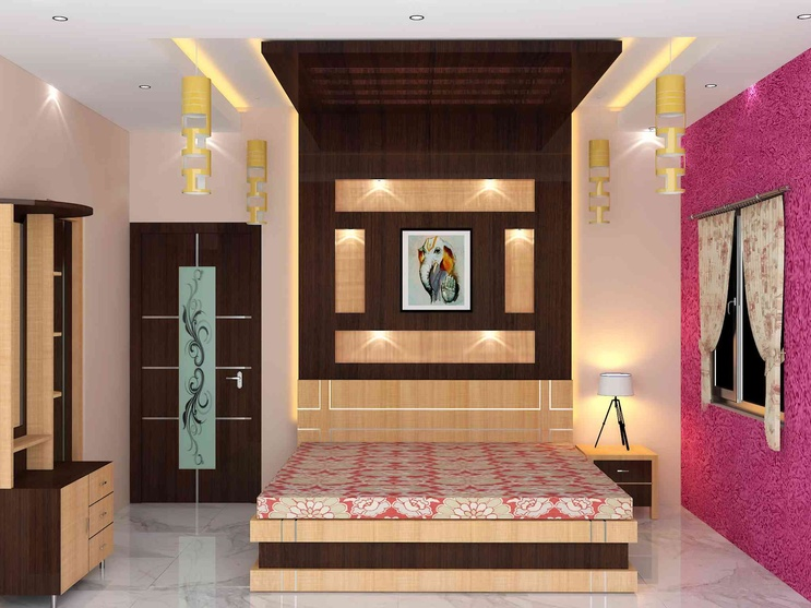 Bedroom interior by sunny singh interior designer in for Modern romantic interior design