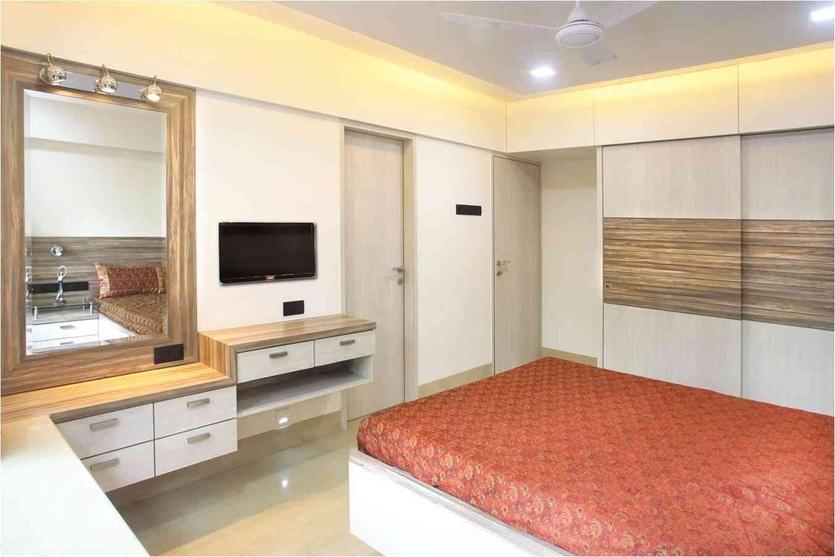 Kumar residence by suneil verma interior designer in for Indian wardrobe interior designs