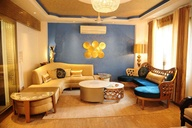 Ethnic Blue Moroccan Style Living Room