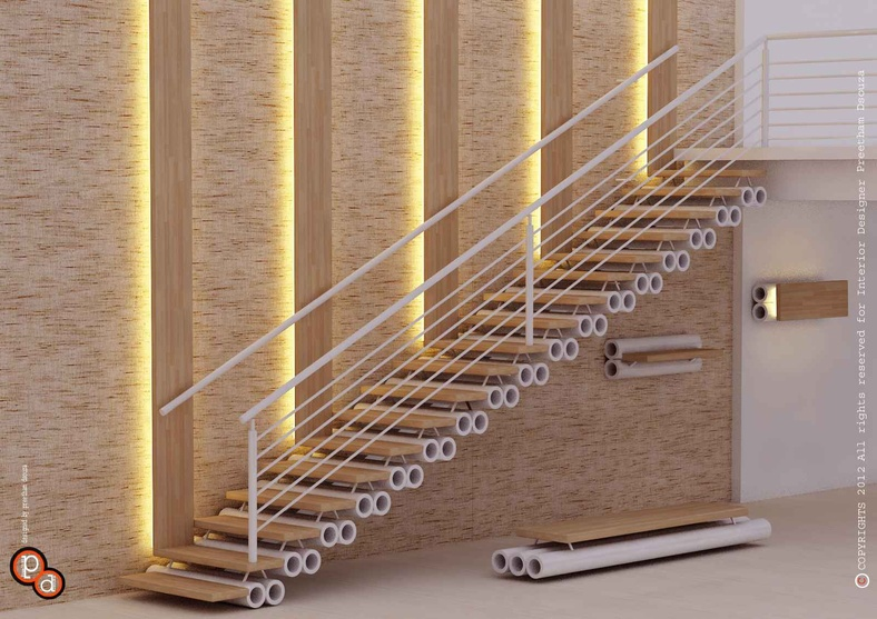 Staircase designs 1 by preetham dsouza interior designer for Interior staircase designs india