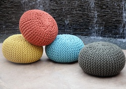 Moro Recycled Hand-woven Cotton Poufs