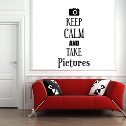 Keep Calm and Take Pictures Wall Decal ( KC368 )