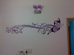 Musical Butterfly Wall Decal ( KC005 )