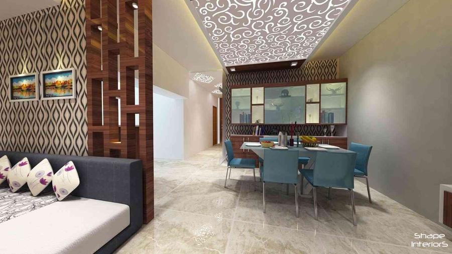 3bhk flat mangalam by shape interiors interior designer in jaipur rajasthan india for Interior design images of home