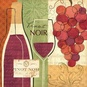 Wine and Grapes I Poster