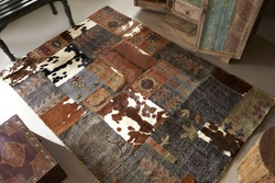 Aramis Hand-made Wool and Natural Hide Rugs