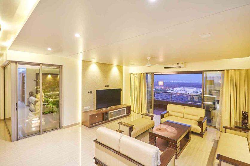 Apartment 1202 by istudio architecture architect in thane - The living room mumbai maharashtra ...