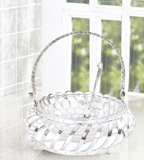 Basket With Glass Bowl and Spoon Buy Online