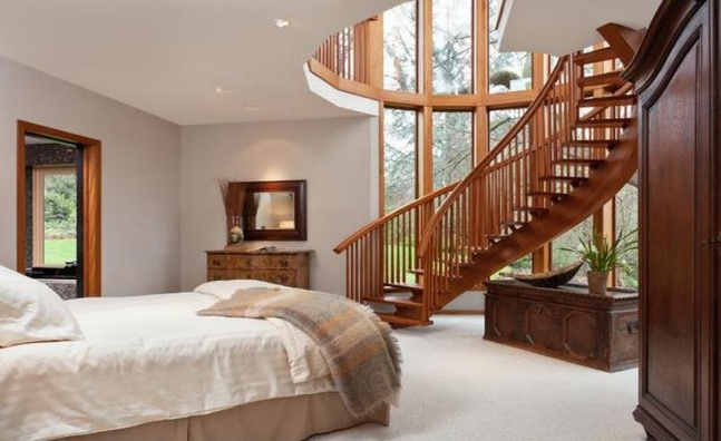 Bedroom with Stairs Designs