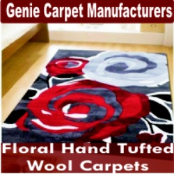 Floral Hand Tufted Wool Carpets