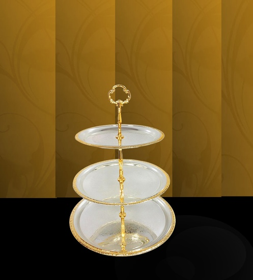 Buy 3 tier fruit bowl stand online india gold plated bowls for sale - Tiered fruit bowl ...