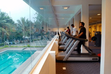 Health Club overlooking the Swimming Pool