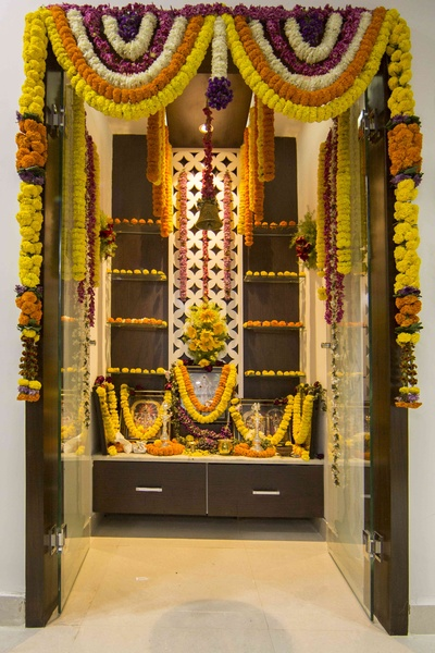 Best Colour For Pooja Room Color Combination Puja Room