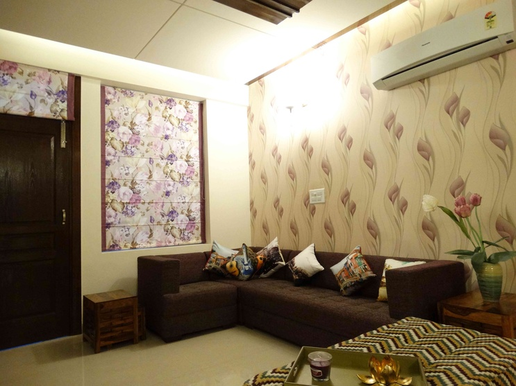 Interiors of a sample flat by kirat dhillon architect in for Indoor design ideas indian