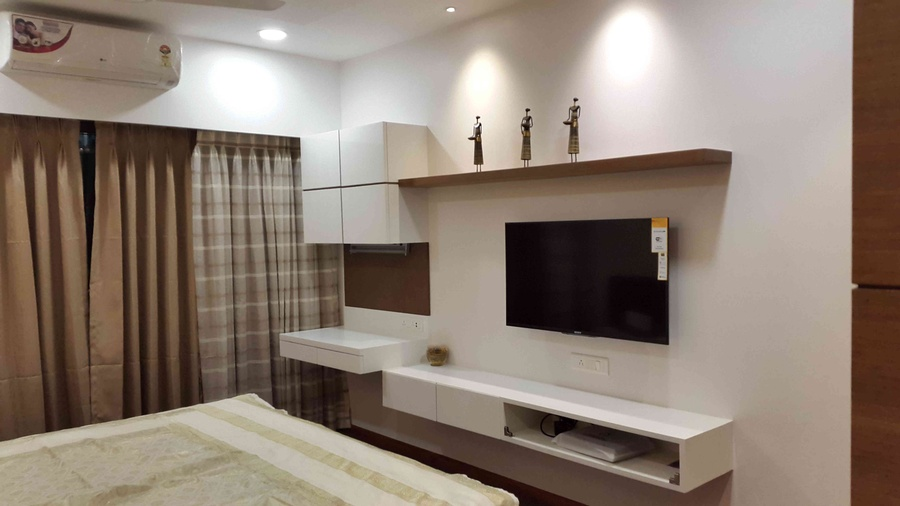 Bedroom tv cabinet for Bedroom cabinet designs india