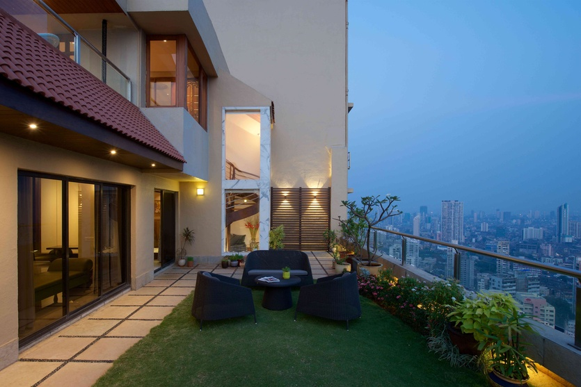 Modern luxury penthouses designs penthouse pictures india for Terrace 6 indore