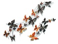 Wall Decor Spring Butterflies Chrorme S/2