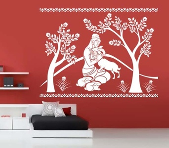 Shakuntala With Deer Wall Decal